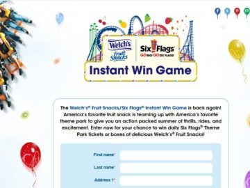 Welch's Fruit Snacks Instant Win Game Sweepstakes
