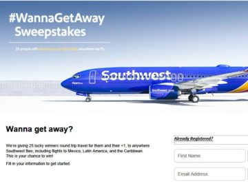 The Southwest Airlines #WannaGetAway Sweepstakes