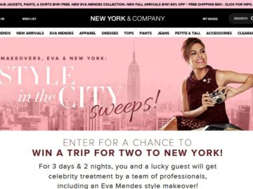 New York & Company Style in the City Sweepstakes