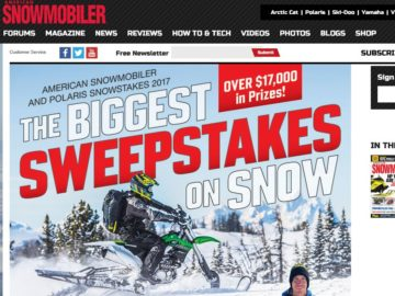 The American Snowmobiler Snowstakes 2017 Sweepstakes