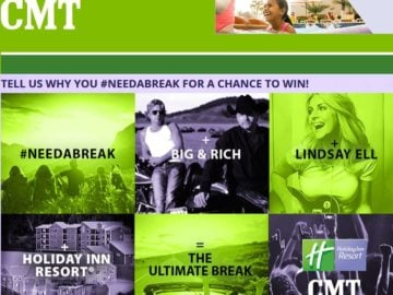 "The ""2016"" CMT #needabreak Fan Sweepstakes"