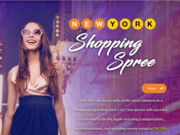 New York Shopping Spree Sweepstakes