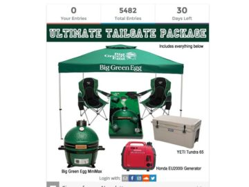 The Big Green Egg Ultimate Tailgate Sweepstakes