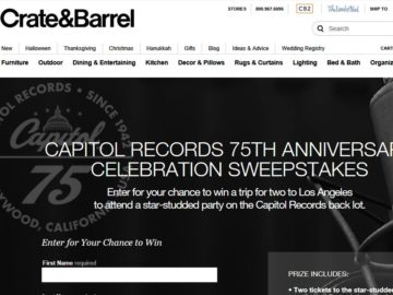 Capitol Records 75th Anniversary Celebration Sweepstakes