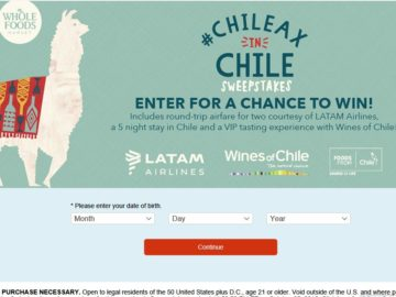 The #Chileax in Chile Sweepstakes