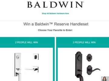 Build.com Baldwin Reserve Handleset Sweepstakes
