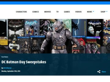 DC Batman Day Sweepstakes