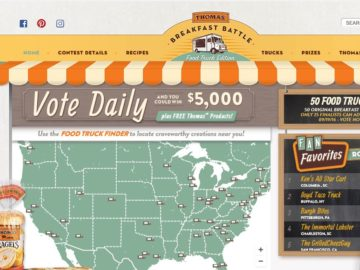 Thomas' Breakfast Battle Food Truck Edition Voting Sweepstakes