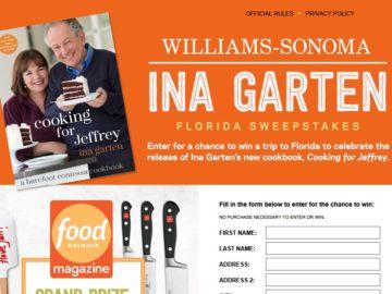 Williams-Sonoma Ina Garten Food Network Sweepstakes