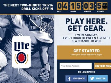 The Miller Lite Football 2 Minute Drill Sweepstakes