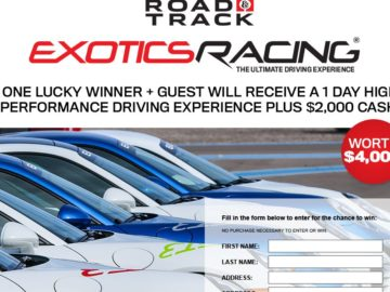 Road & Track and Exotics Racing Sweepstakes