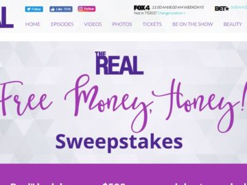 The Real Free Money, Honey! Sweepstakes