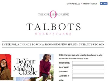 The Talbots Sweepstakes