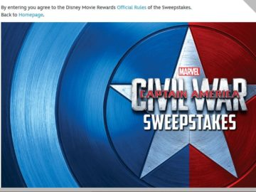 Marvel's Captain America: Civil War Sweepstakes