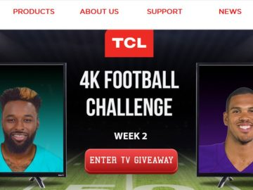 The TCL 4K Football Challenge Sweepstakes