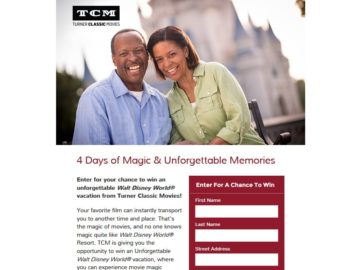 TCM Movies and Magic Sweepstakes