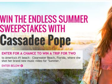 "The Visit St. Pete Clearwater ""Cassadee Pope Summer Flyaway"" Sweepstakes"