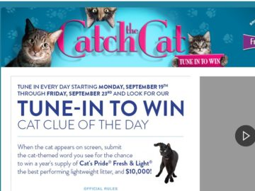 LIVE's Catch the Cat Tune In to Win Sweepstakes