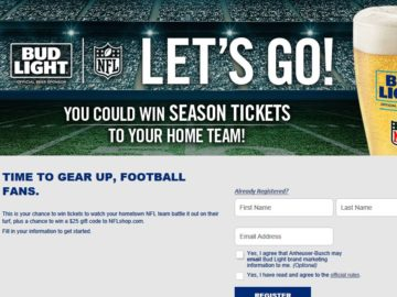The Bud Light Let's Go! Sweepstakes
