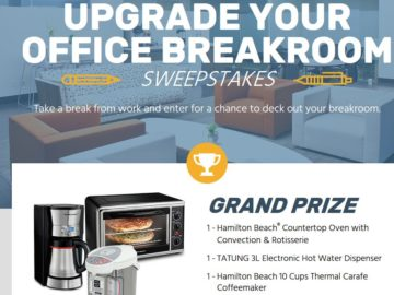 The Newegg Upgrade Your Office Breakroom Sweepstakes