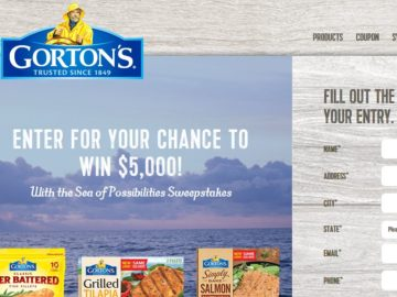 The Gorton's Sea of Possibilities Sweepstakes