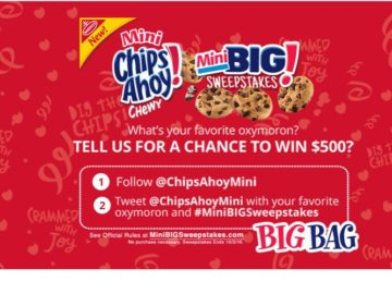 Chips Ahoy! Mini Big Sweepstakes