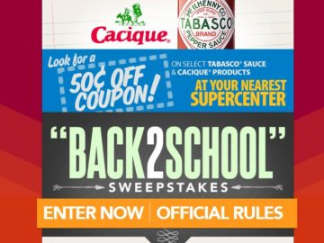 "The Tabasco ""Back2School"" Sweepstakes"
