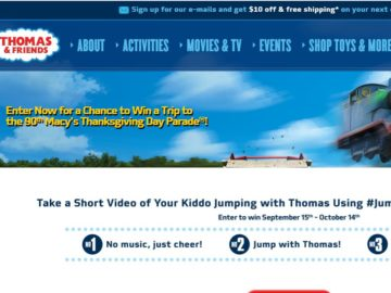 The Jump with Thomas Sweepstakes
