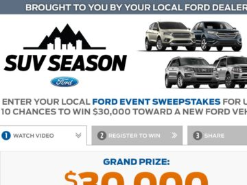 The Ford Event Sweepstakes