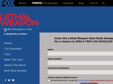 """The """"Find Your Lethal Weapon Best Bud"""" Sweepstakes"""