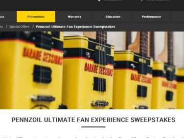 The Pennzoil ULTIMATE FAN EXPERIENCE 2016 Sweepstakes