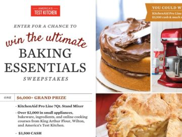 The America's Test Kitchen Ultimate Baking Essentials Sweepstakes