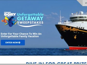 The Finding Dory Unforgettable Getaway Sweepstakes