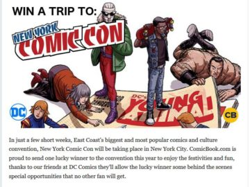 Comicbook Win A Free Trip to ComicCon Sweepstakes