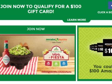 """The Avocados from Mexico """"Team AFM"""" Fan Program September – October 2016 Sweepstakes"""