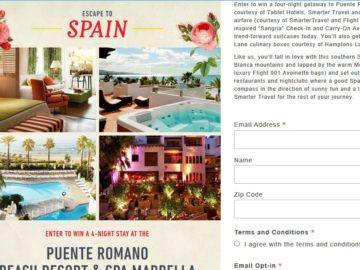 Escape to Spain Sweepstakes