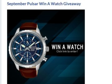 Pulsar Win a Watch Sweepstakes