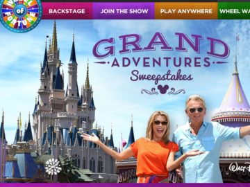 The Wheel of Fortune Grand Adventures Sweepstakes