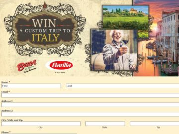 The Barilla / Buca di Beppo National Pasta Month Sweepstakes