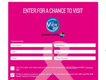 The View's Breast Cancer Awareness Sweepstakes