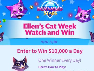 The Bejeweled Stars and Ellen's Cat Week Watch and Win Contest