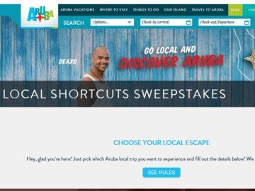 "The Aruba Tourism Association ""Local Shortcuts"" Sweepstakes"