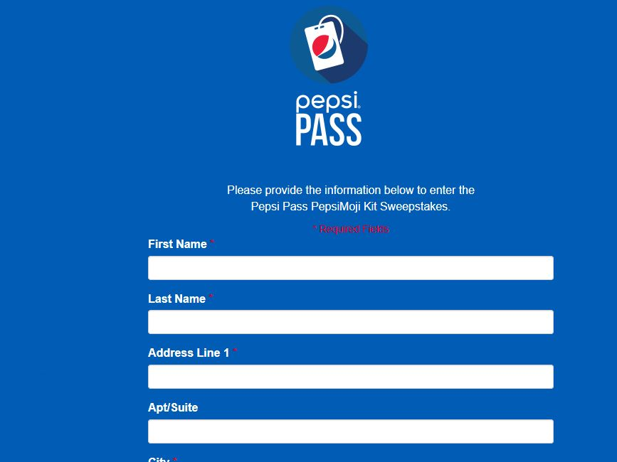 "Pepsi Pass ""PepsiMoji Kit"" Sweepstakes"