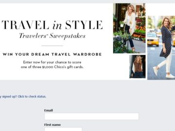 Chico's Travel In Style Sweepstakes