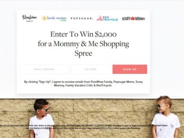 PureWow $2,000 Mommy & Me Giveaway Sweepstakes