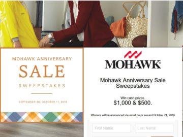 The Mohawk Flooring's #MohawkAnniversarySale Sweepstakes