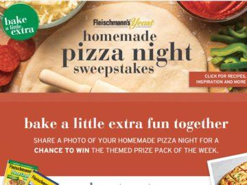 The Fleischmann's Homemade Pizza Night Sweepstakes