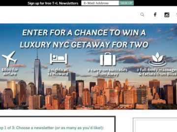 The Travel + Leisure Luxury NYC Getaway Sweepstakes