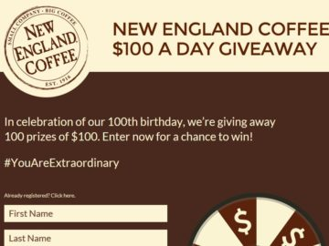 The New England Coffee 100th Anniversary Instant-Win Game