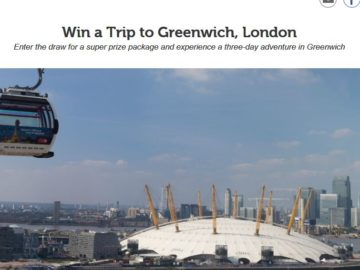 VisitLondon.com Win a Trip to Greenwich, London Sweepstakes